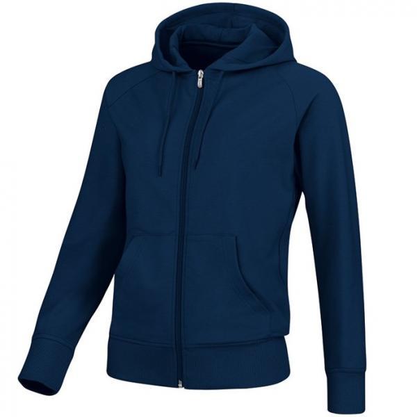Trøje med hætte og lynlås - blå - pris 329.- kr.